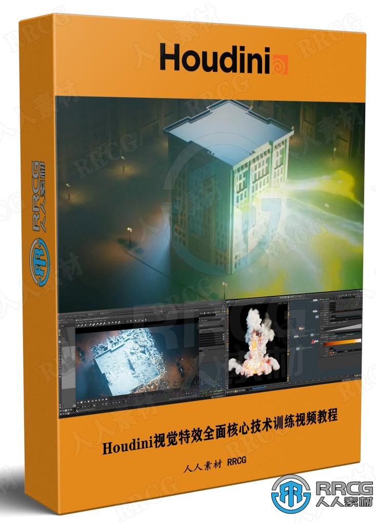 Houdini视觉特效全面核心技术训练视频教程