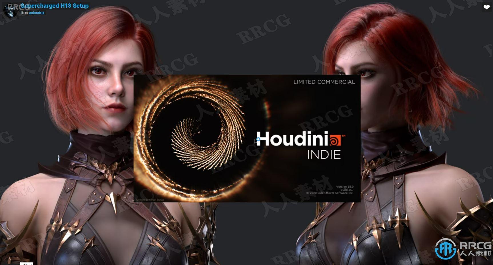 Supercharged高级图形用户界面和工作流程增强功能Houdini插件H18 R5版
