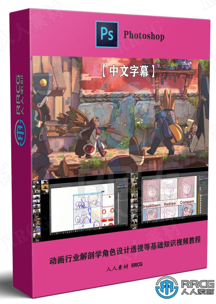【中文字幕】动画行业解剖学角色设计透视等基础知识视频教程