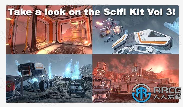 3D科幻太空飞船场景环境Unity游戏素材资源