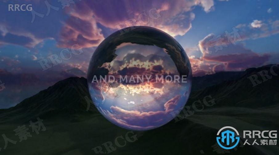 126组360球形天空各种全景HDRI高清贴图合集