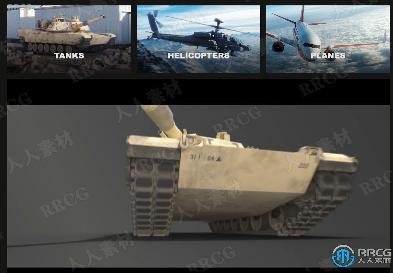 93组飞机坦克真实动画4K高清视频素材合集