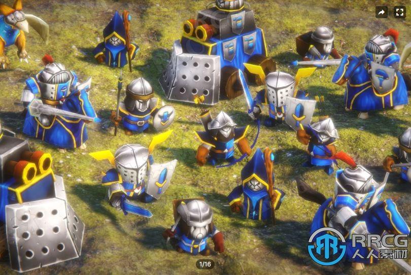 科幻人形3D卡通战士角色Unity游戏素材资源