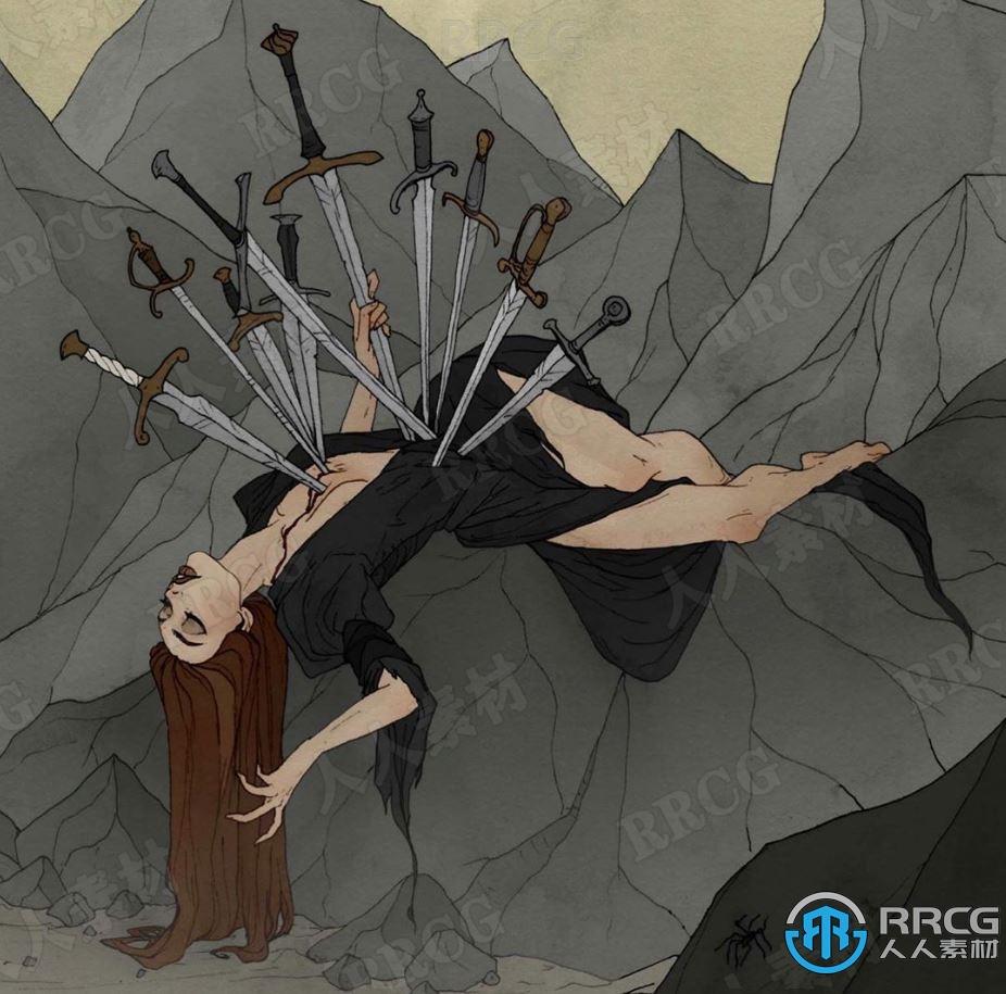 美国画师Abigail_larson暗黑童话风格角色原画插画集