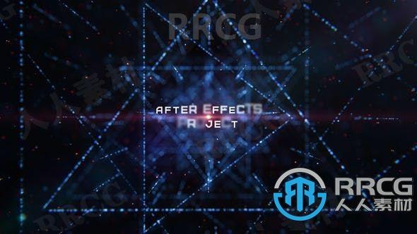 科技科幻抽象粒子效果标题展示动画AE模板