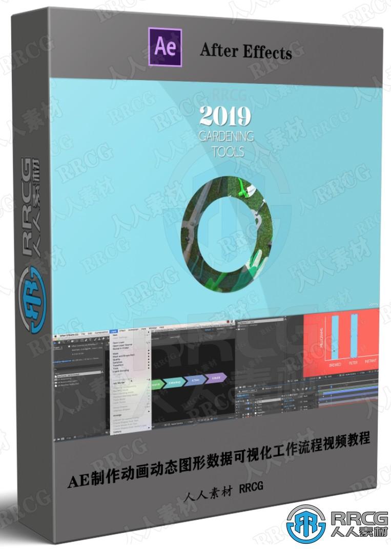 AE制作动画动态图形数据可视化工作流程视频教程