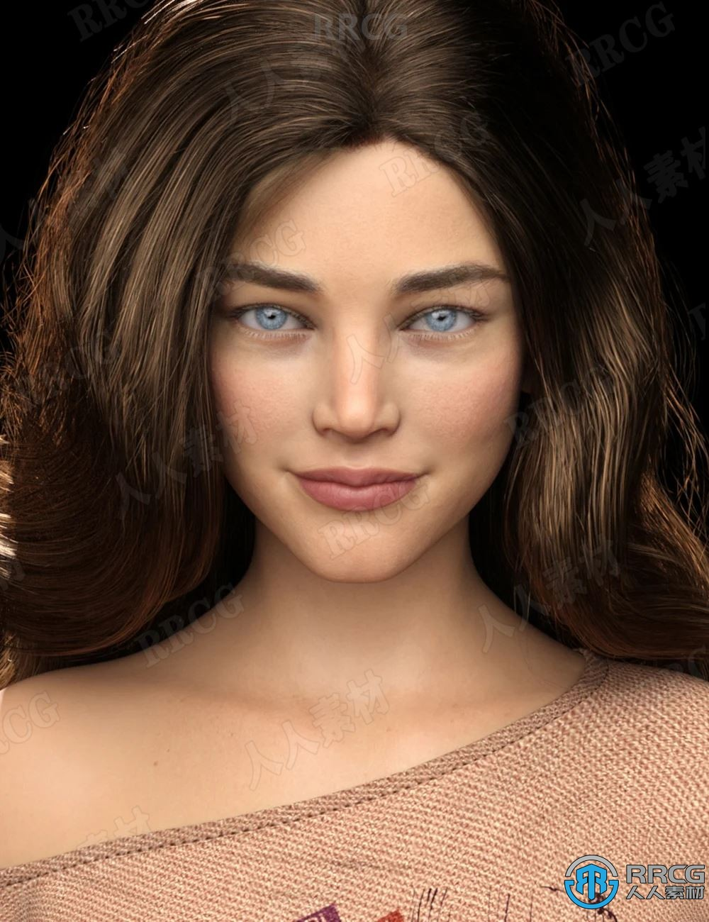 年轻美丽模特身材高清女性角色3D模型合集