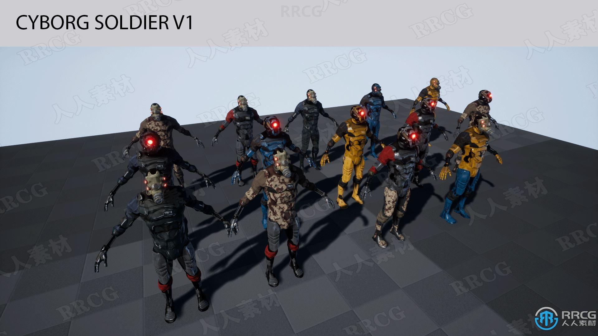 2个不同设计钢铁科幻战斗角色Unreal Engine游戏素材资源