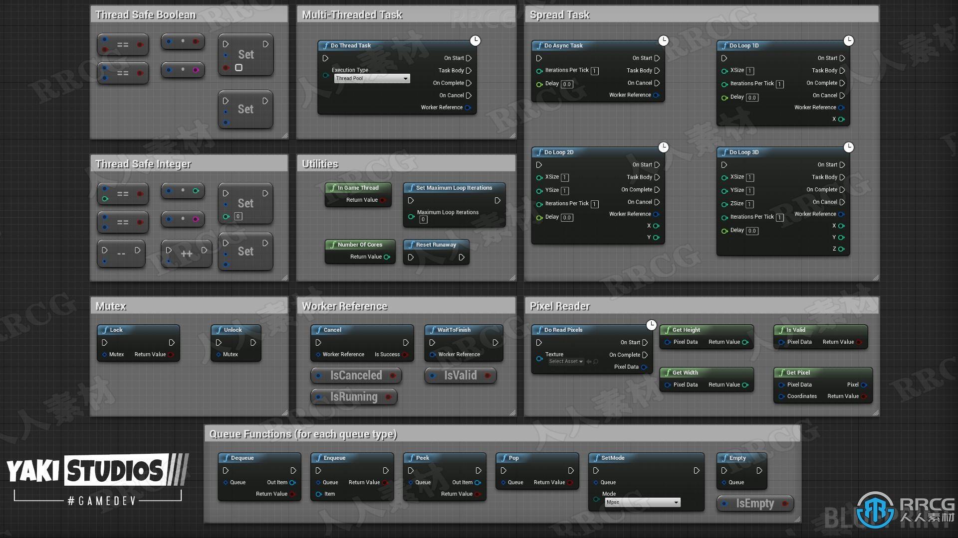 蓝图中创建多线程工具Unreal Engine游戏素材资源