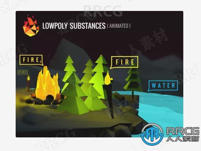 低聚物质着色器视觉特效Unity游戏素材资源