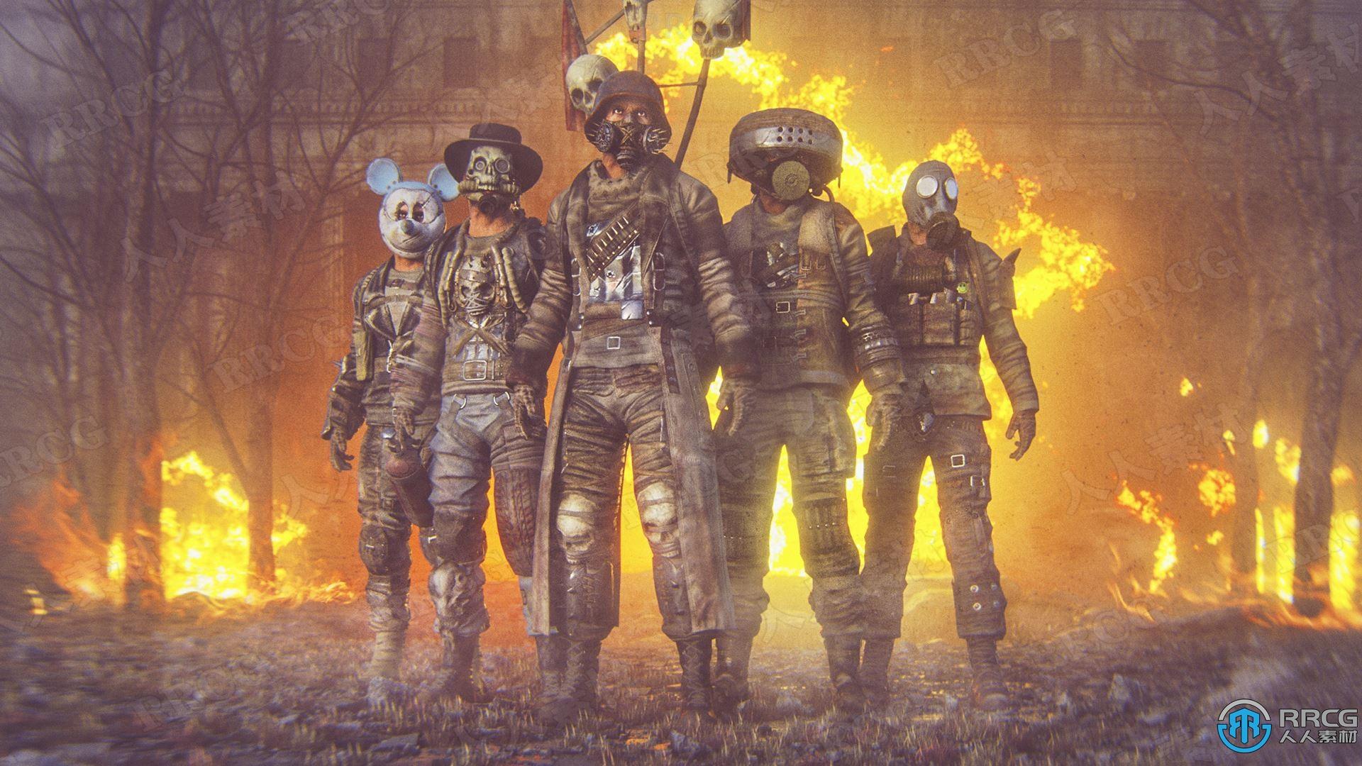 43件衣服武器自由组装角色Unreal Engine游戏素材资源