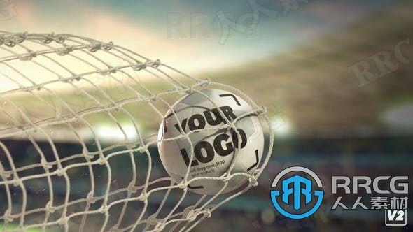 足球进球得分开场效果LOGO动画演绎AE模板