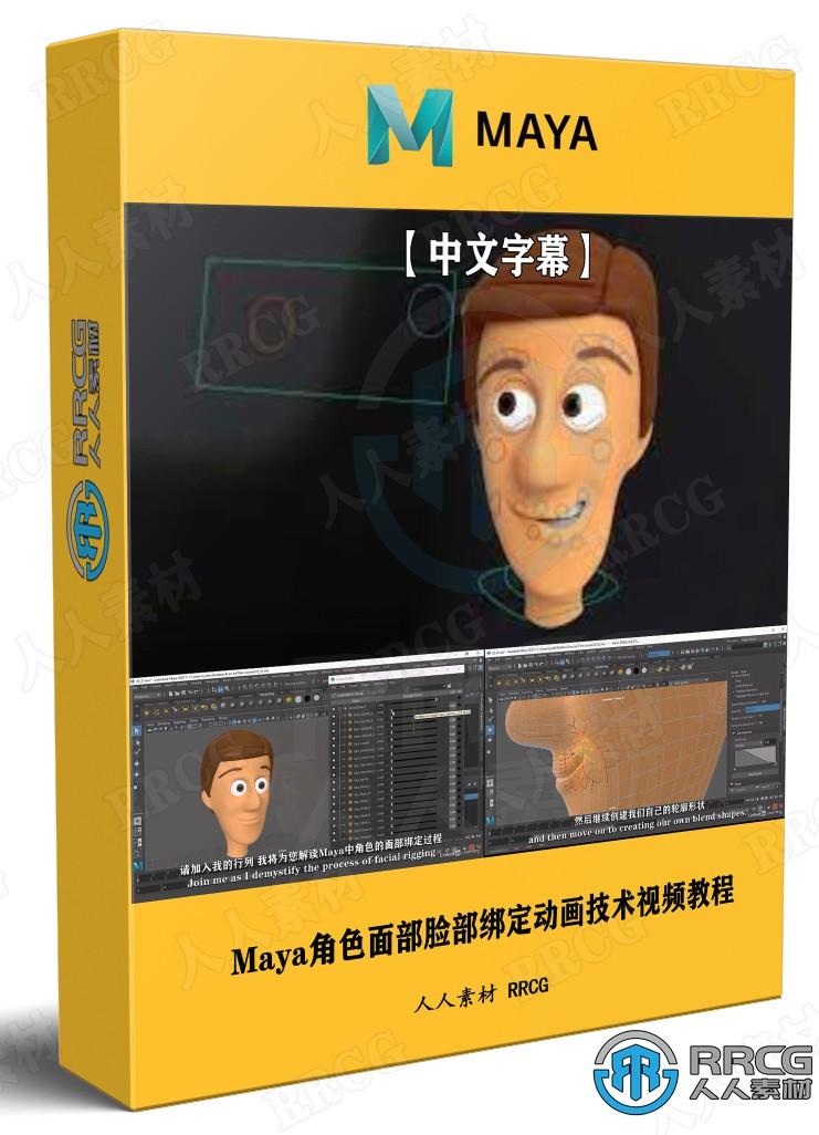 【中文字幕】Maya角色面部脸部绑定动画技术视频教程