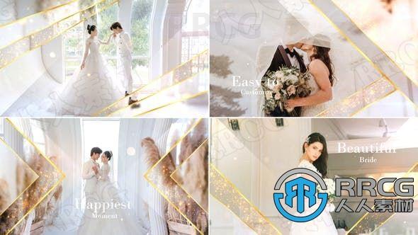 浪漫优雅婚礼主题纪念相册切换展示动画AE模板