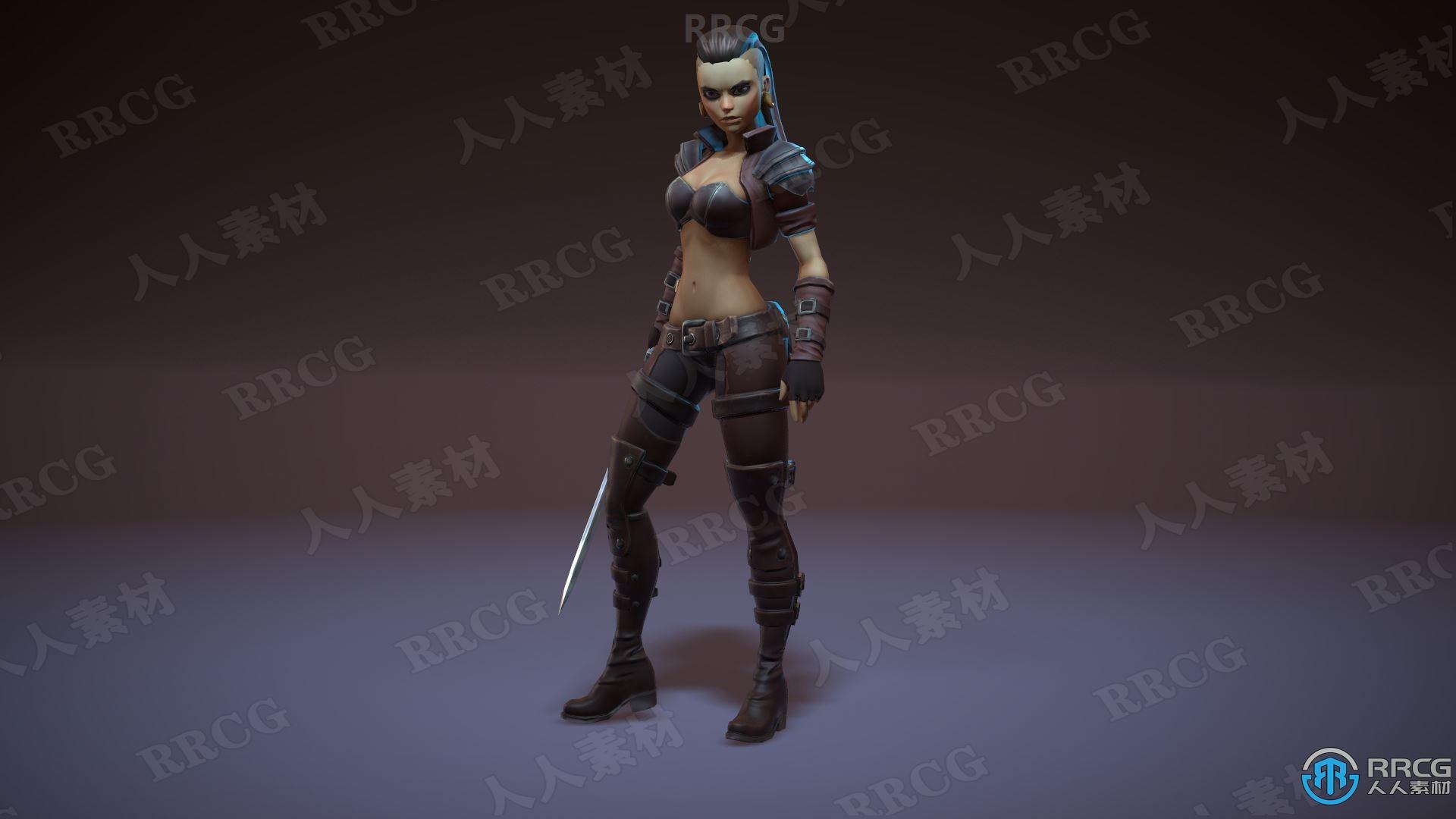 瓦尔基里娅科幻战斗动态角色Unreal Engine游戏素材资源