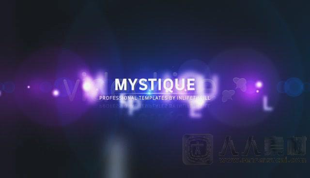 变换闪耀文字板式 AE片头模板  Videohive - mystique - 108146