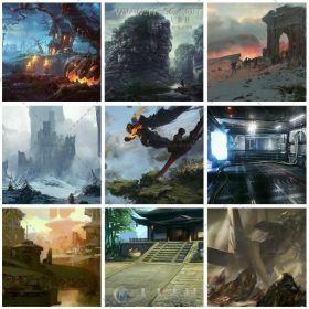 17000张游戏场景概念设计原画插画素材资源