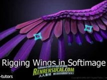 《Softimage翅膀套索训练教程》Digital-Tutors Rigging Wings in Softimage