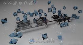 美丽蓝宝石材质C4D钨钢材质