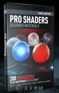 ProShaders2材质贴图包Element3D V2扩展资料 Video Copilot Pro Shaders 2 for Ele...