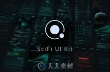 科幻主题UI工具包PSD模板 Creativemarket Orbit SciFi UI Kit 163951