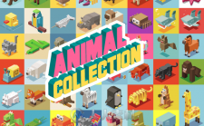 像素风格3D动物展示Ai模板Animals Isometric collection