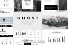 迷你阴影风格PPT模板Ghost Minimal Powerpoint Template