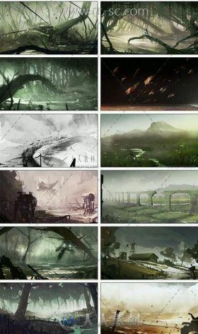 2700张场景概念游戏插画设定参考素材