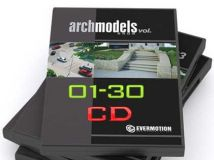 《Cinema 4D 模型合辑Vol.01-30》Evermotion Archmodels vol.01-30 for Cinema 4D