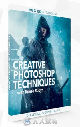 PS冰雪战士创意后期合成制作视频教程 RGGEDU CREATIVE PHOTOSHOP TECHNIQUES WITH ...