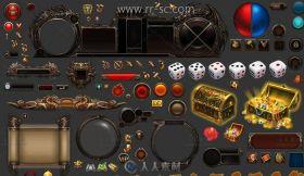 《烈火战神》游戏UI界面资源