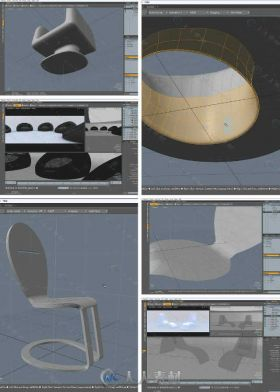 Modo家具建模设计实例训练视频教程  THE FOUNDRY FURNITURE MODELING AND DESIGN