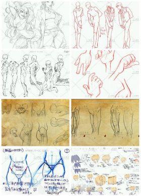 上千张人体结构动态速写美术素材资源