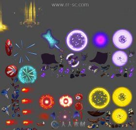 日韩Q版手游骨骼切片游戏美术素材资源