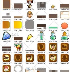 《部落幻想》全套美术UI素材