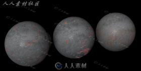 3种铁锈材质球C4D金属材质