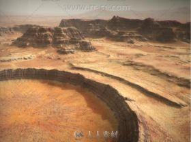 荒凉的火星环境3D模型Unity游戏素材资源