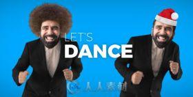 创意搞笑大头贴人物跳舞视频元素AE模板 Videohive Let's Dance 19736298