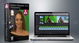 达芬奇DaVinci Resolve V12.5融合视觉特效视频教程 Ripple Training Compositing i...