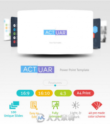 精细化PPT模板展示GraphicRiver - Actuar Power Point Presentation Template 1172...
