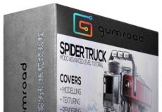 Modo卡车建模完整实例训练视频教程 Gumroad Modo Advanced Spider Truck by Vaugha...