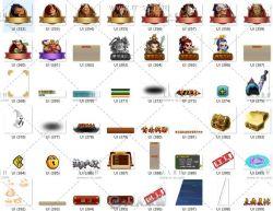 中国风卡牌养成游戏美术UI素材