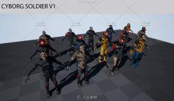 机械战士角色模型与贴图UE4游戏素材资源