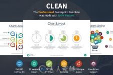 简洁风格PPT模板Clean Powerpoint Template