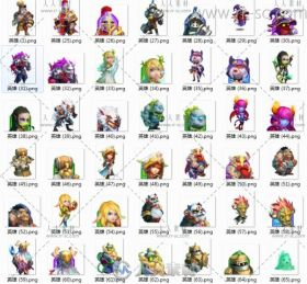 Castle Clash《城堡争霸》UI及游戏素材资源