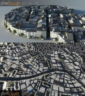 Ghosttown城市建筑制作3dsmax插件V1.31版 KILAD GHOSTTOWN 1.31 FOR 3DS MAX 2012-...