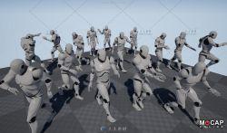 15组角色行走动画UE4游戏素材资源
