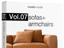 《沙发与座椅3D模型合辑》model+model Vol.07 Sofas+Armchairs
