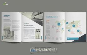40页年度报告indesign排版模板Annual Report - 40 pages